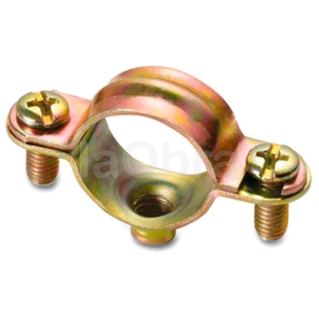 Abrazadera metálica para fijación de tubos eléctricos