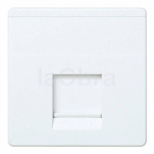 Adaptador 1 conector informático blanco Simon 27