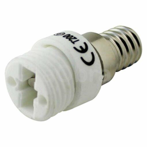 Adaptador bombillas todos los casquillos E14 a G9