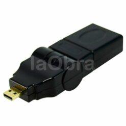 Adaptador micro HDMI macho a HDMI hembra