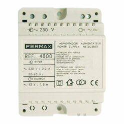 Alimentador DIN4 230Vac 12Vac 1.5A Fermax 4800