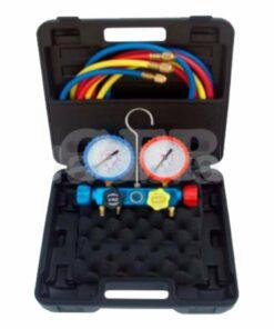 Analizador 4 válvulas con manómetros