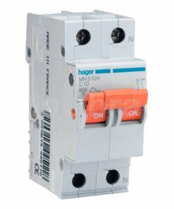 Automático magnetotérmico monofásico 1P+N Hager