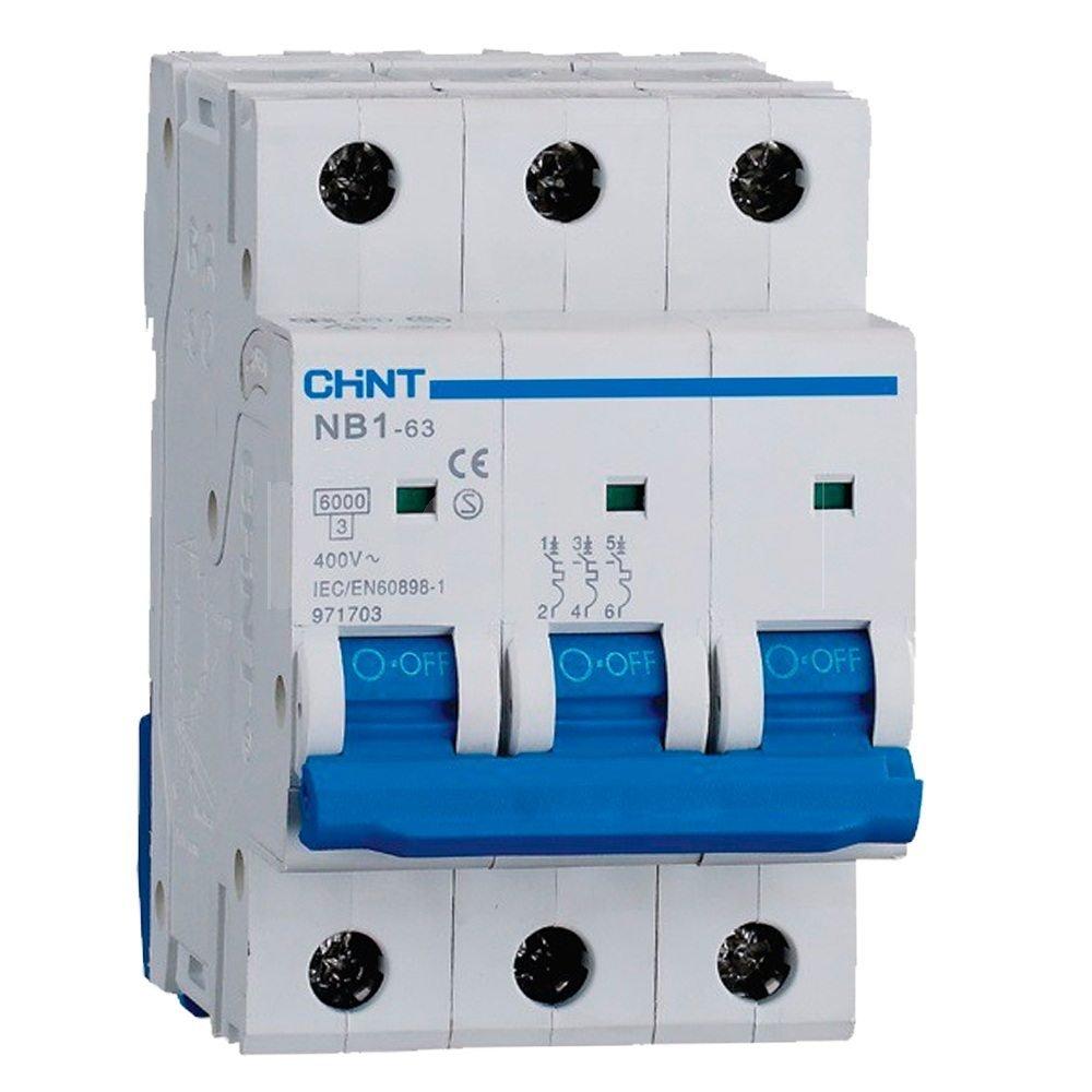 Automático magnetotérmico trifásico 3P Curva D Chint