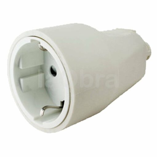 Base móvil schuko 2P+T 16A PVC blanca