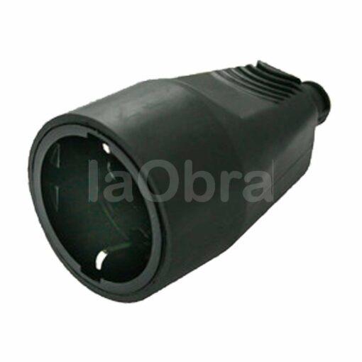 Base móvil schuko 2P+T 16A PVC negra