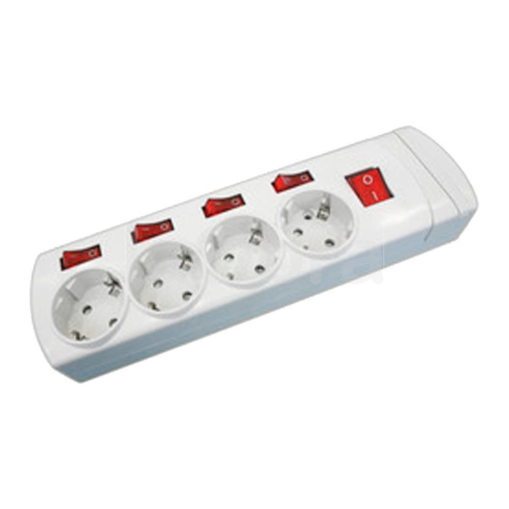 Base múltiple tomas con interruptores independientes