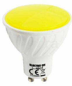 Bombilla led colores GU10 amarilla