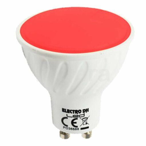 Bombilla led colores GU10 roja