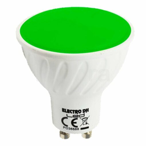 Bombilla led colores GU10 verde