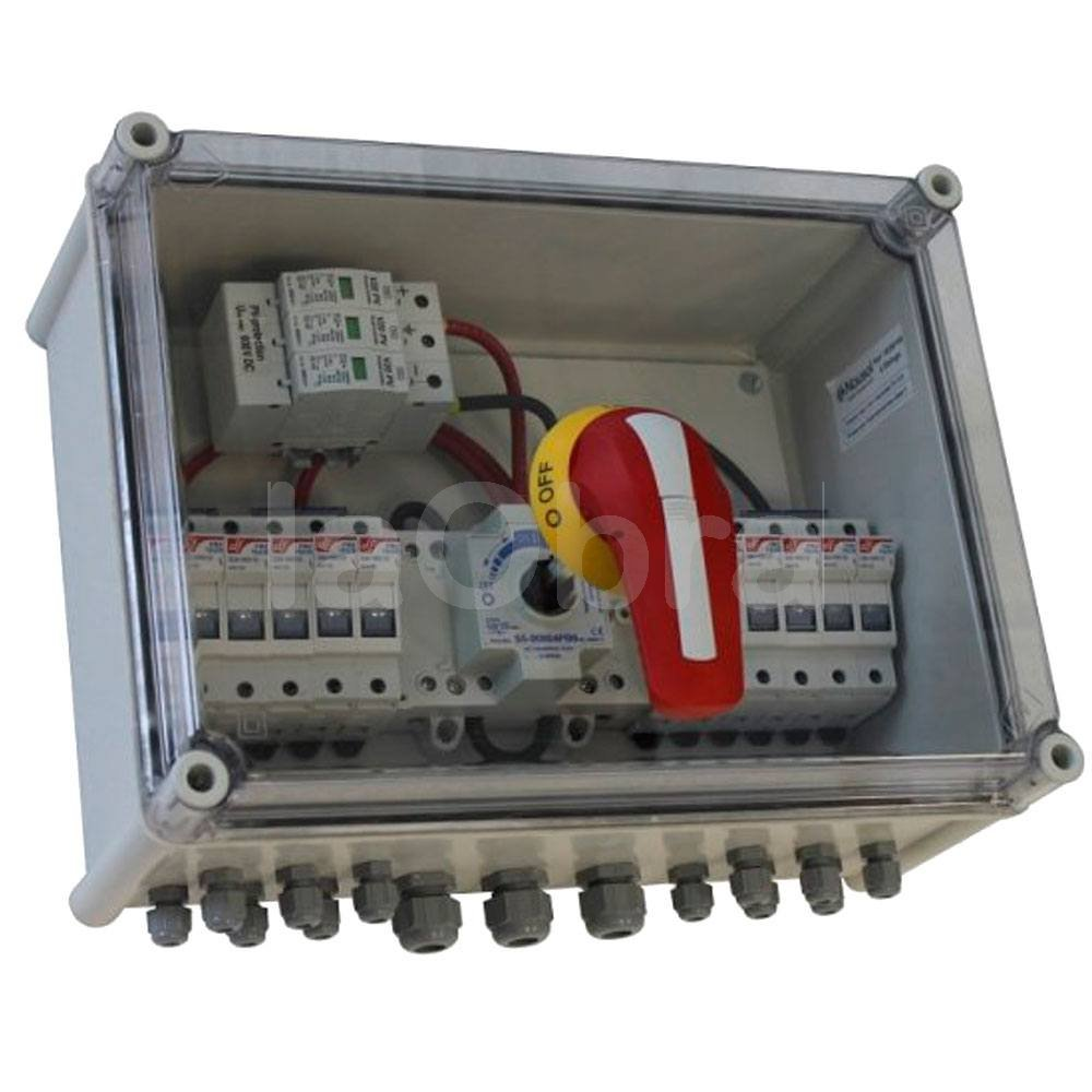 Caja protección con seccionador para solar fotovoltaica
