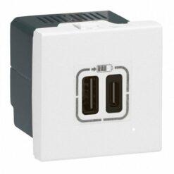 Cargador Doble USB tipo A + Tipo C