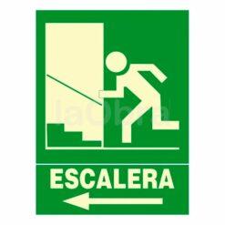Cartel fotoluminiscente escalera de emergencia