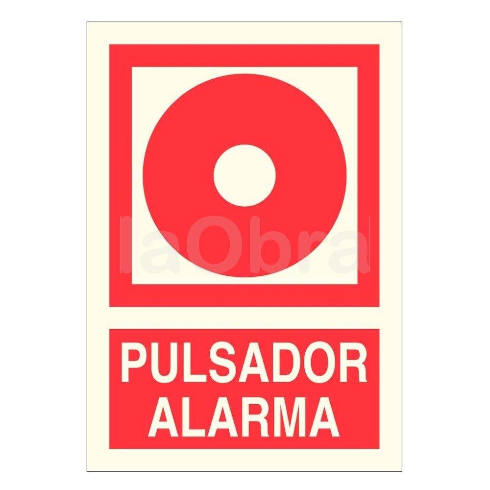 Cartel fotoluminiscente Pulsador de alarma
