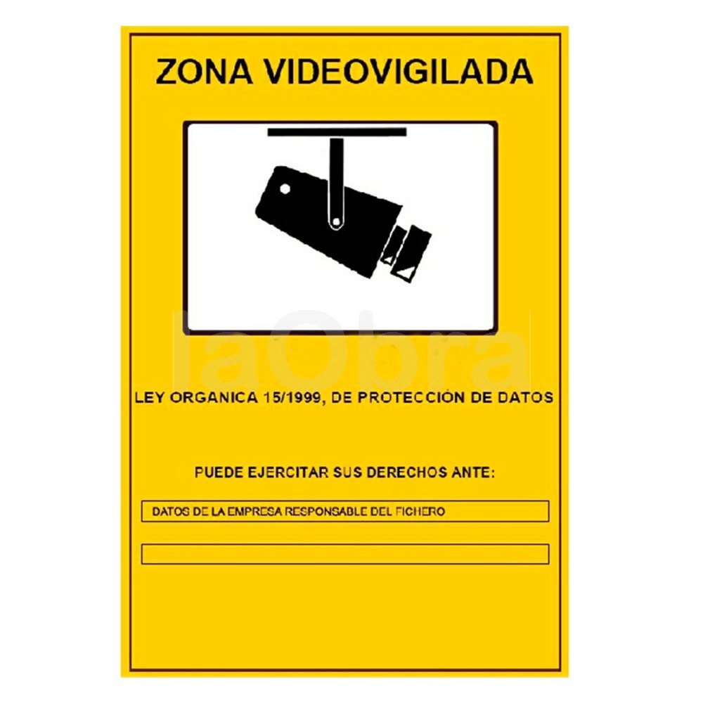 Cartel fotoluminiscente Zona de Videovigilancia