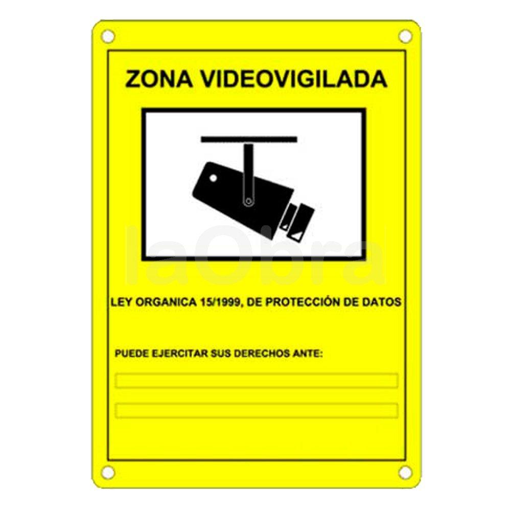 Cartel serigrafía zona videovigilada