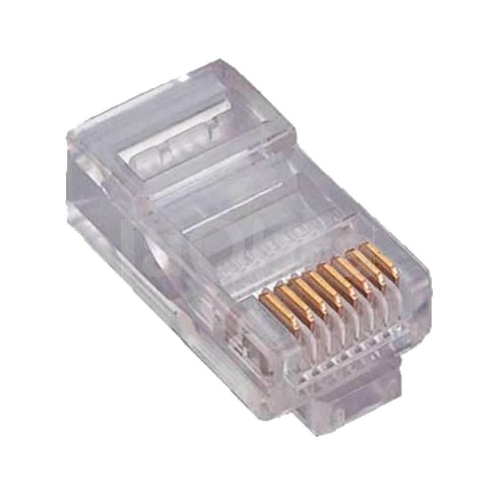 Conector RJ45 macho cable rígido