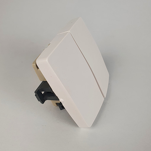 Conmutador doble Oteo blanco