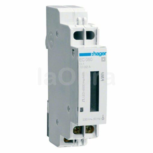Contador energía monofásico Hager EC050