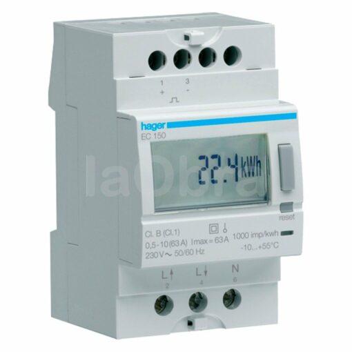 Contador energía monofásico Hager EC150