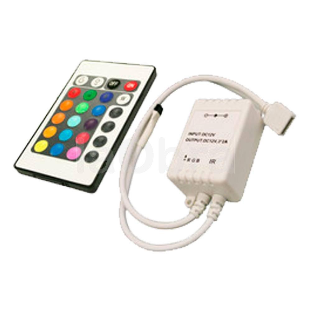 Conjunto controlador y mando a distancia tiras led RGB