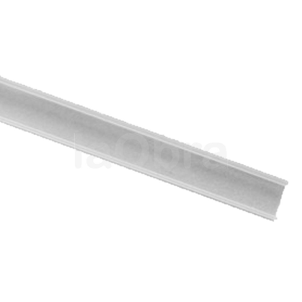 Cubierta semi mate perfil aluminio recto para tira led