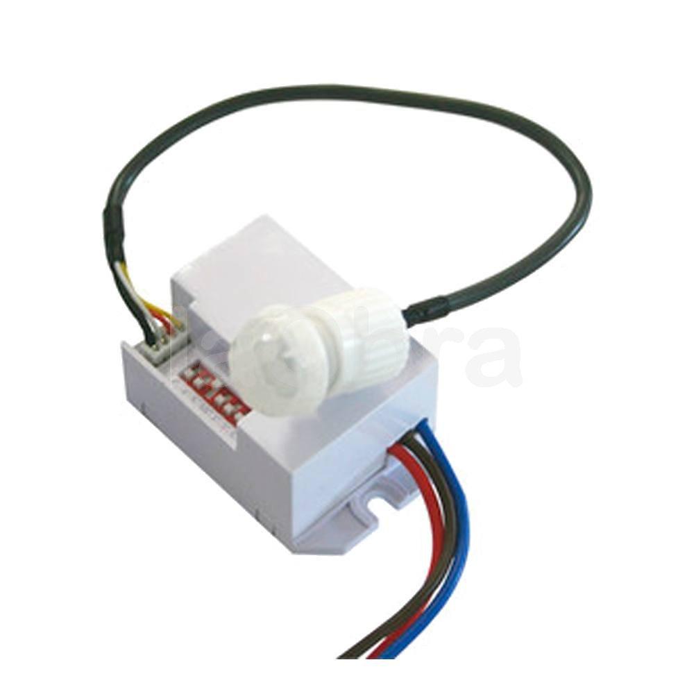 Detector movimiento infrarrojos empotrable mini