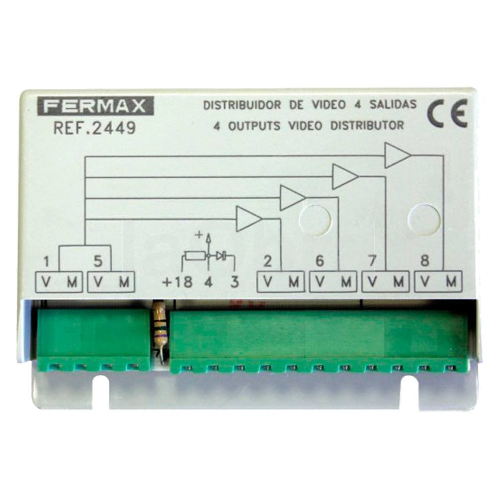 Distribuidor video 4 salidas Fermax 2449