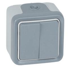 Doble conmutador gris 069715