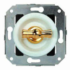 Doble conmutador rotativo oro Fontini Venezia