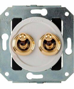 Doble interruptor oro Fontini Venezia