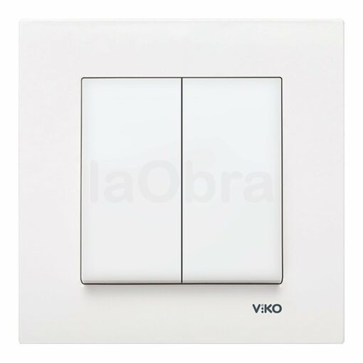 Doble interruptor Viko Karre blanco