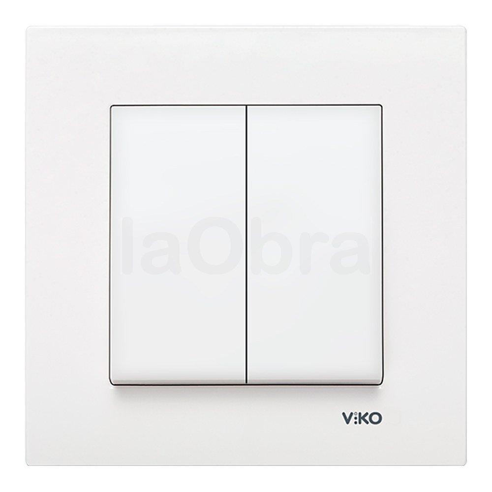 Doble interruptor Viko Karre blanco