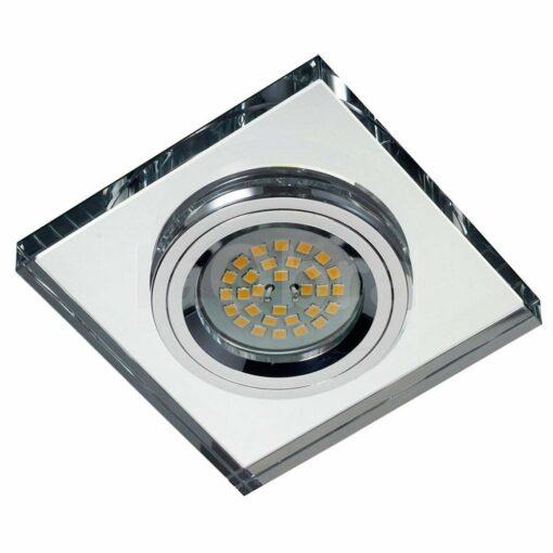 Empotrable halógeno cuadrado espejo