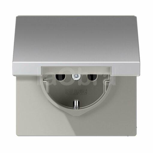 Base enchufe schuko tapa Jung LS 990 aluminio