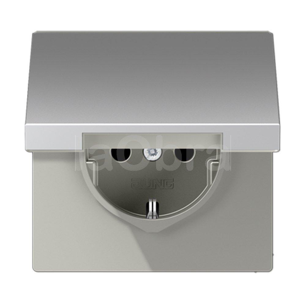 base enchufe schuko tapa jung ls 990 al mejor precio con env o r pido. Black Bedroom Furniture Sets. Home Design Ideas