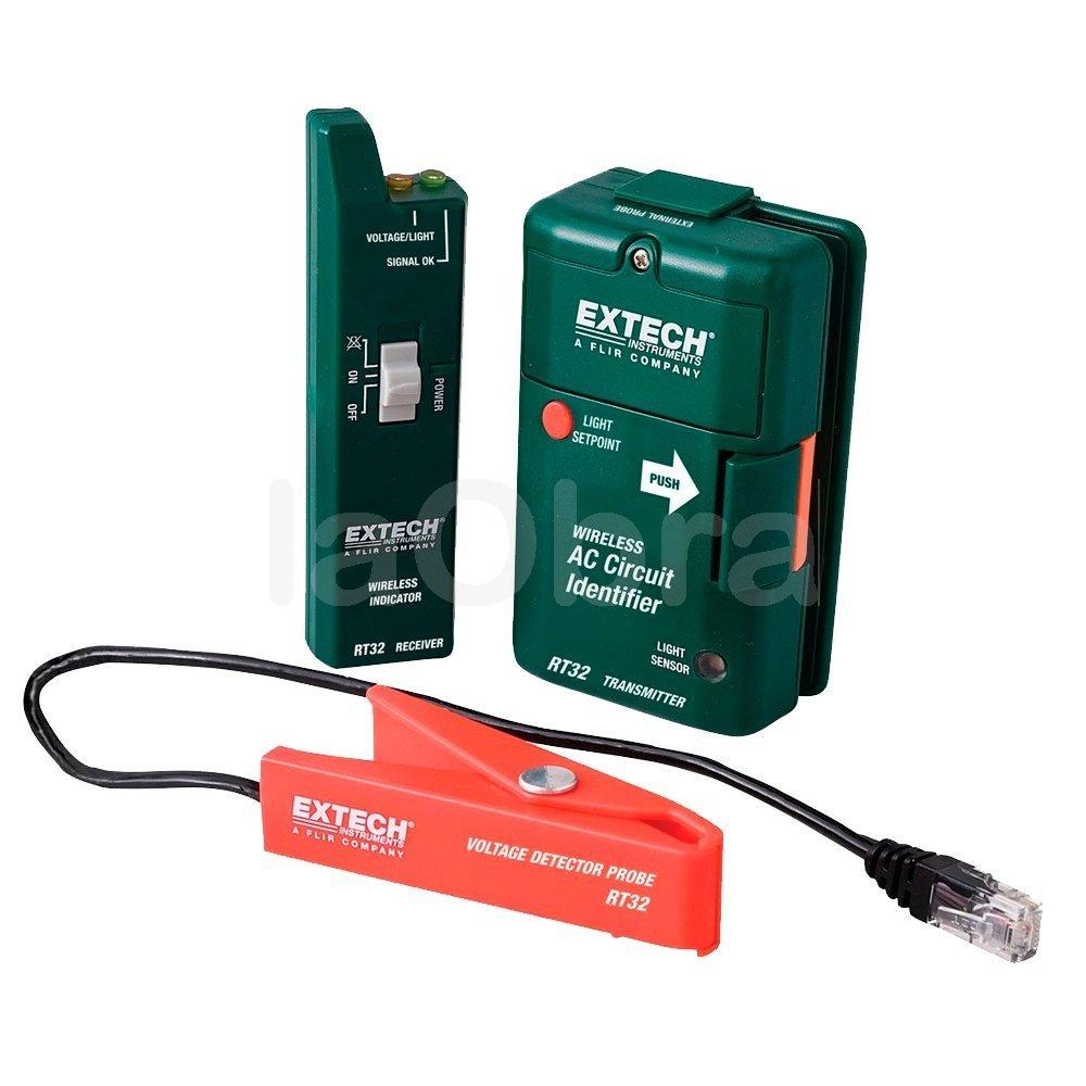 Identificador inalambrico circuitos Extech RT32