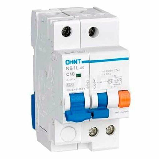 Interruptor diferencial y automático magnetotérmico Chint