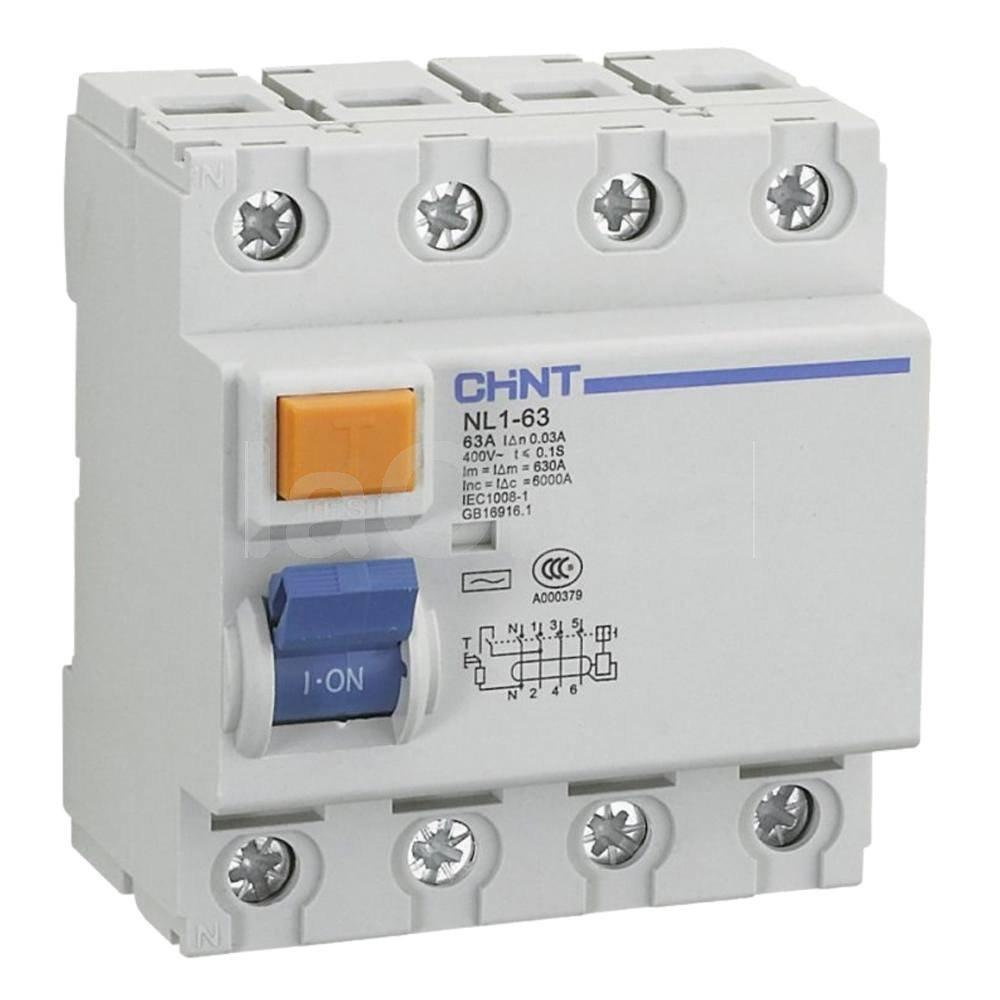 Interruptor diferencial trifásico 3P+N Chint