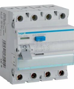 Interruptor diferencial trifásico 3P+N Hager