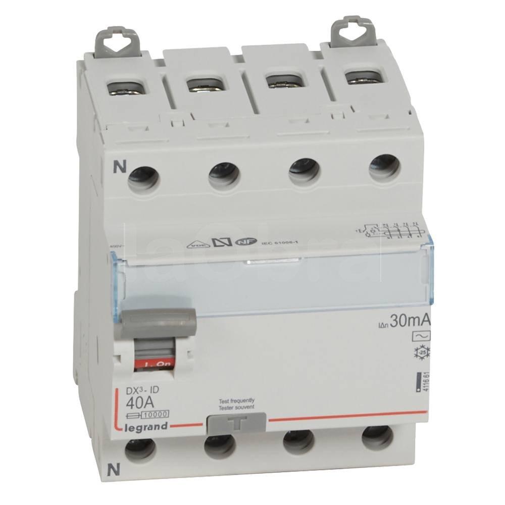 Interruptor diferencial trifásico 3P+N Legrand