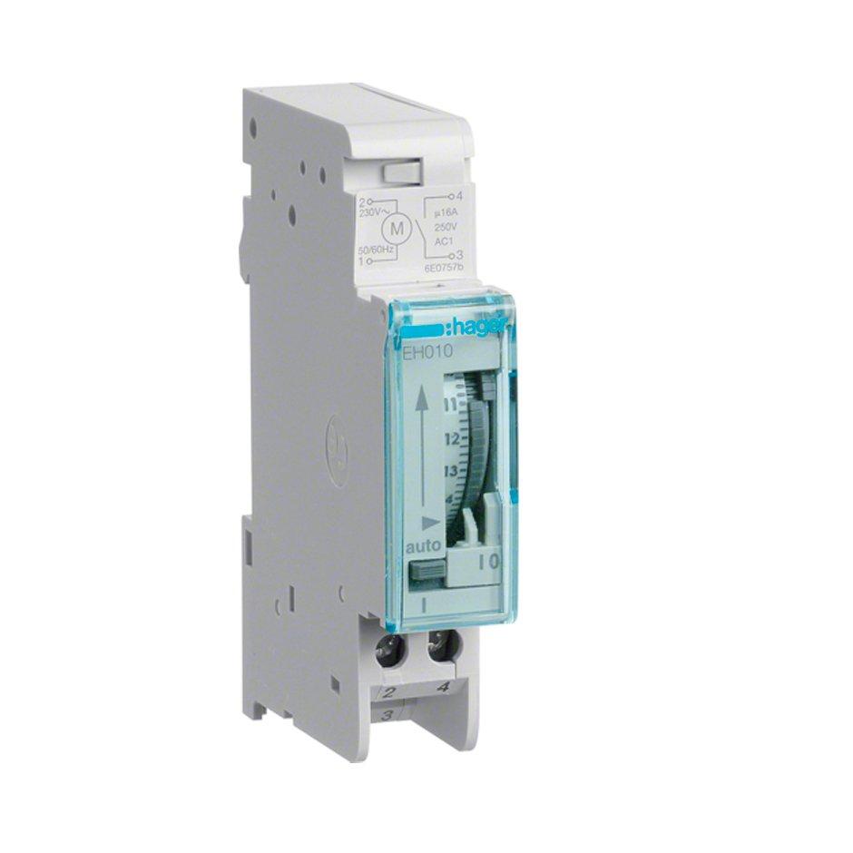 Interruptor horario analógico Hager EH010