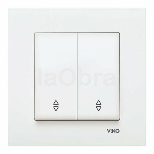 Interruptor persiana Viko Karre blanco