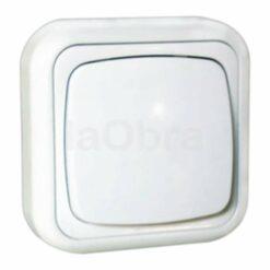 Interruptor superficie blanco