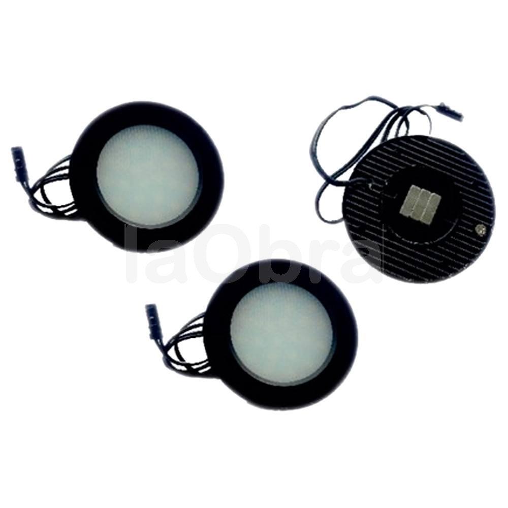 Kit 3 luces superficie circular 220v 3x1w