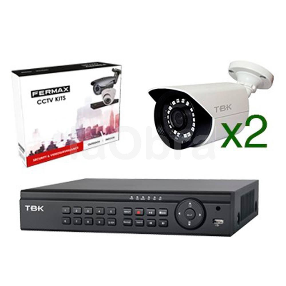 Kit 2 c maras exterior videovigilancia con grabador fermax - Camaras videovigilancia exterior ...