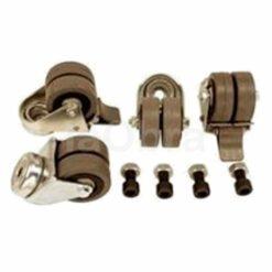 Kit 4 ruedas para armario rack