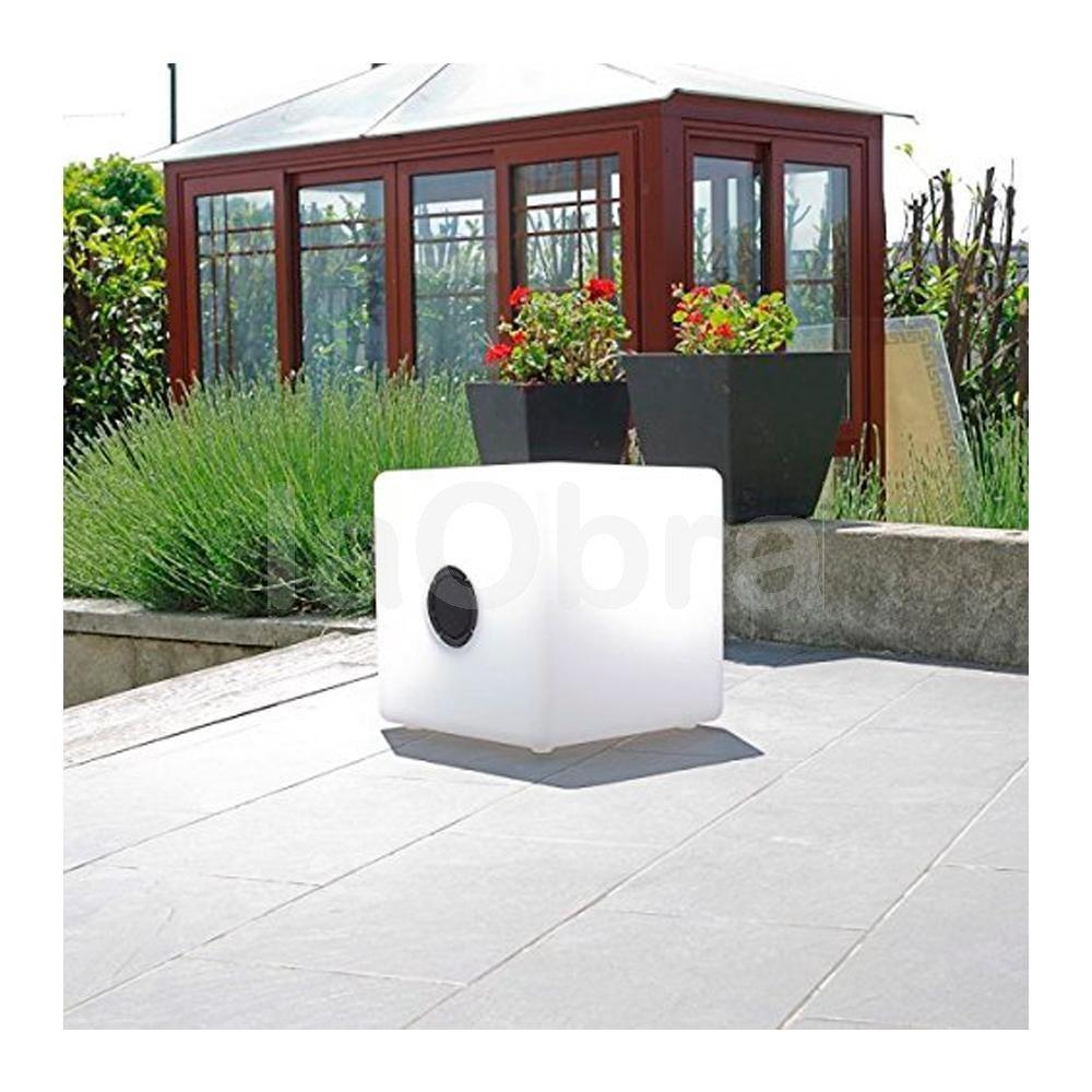 Lámpara mesa led Cubo mágico con altavoz
