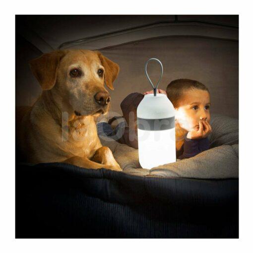 Lámpara portátil led Orfeo con altavoz
