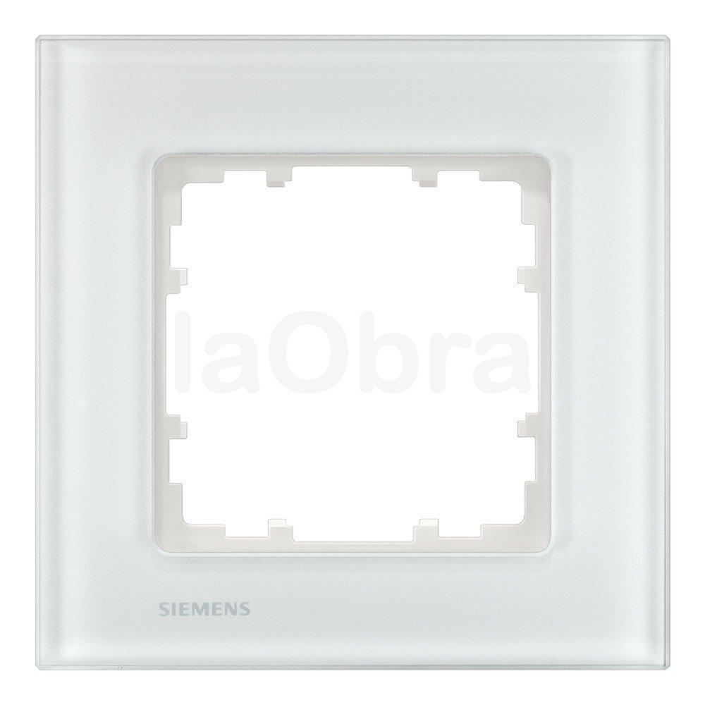 Marco cristal blanco Siemens Delta Miro con envío rápido | laObra